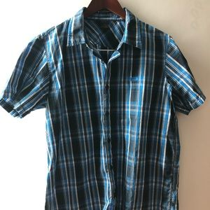 Oakley Brand Button down plaid shirt! SZ M!